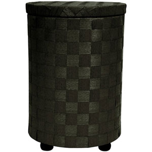 26 Inch Natural Fiber Laundry Hamper Black, Width - 17.25 Inches