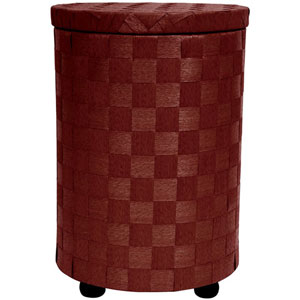 26 Inch Natural Fiber Laundry Hamper Mahogany, Width - 17.25 Inches