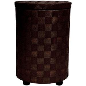 26 Inch Natural Fiber Laundry Hamper Mocha, Width - 17.25 Inches