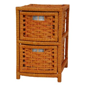 Honey Natural Fiber Occasional Chest of Drawers