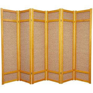 Jute Shoji Screen - Honey Six Panel, Width - 102 Inches
