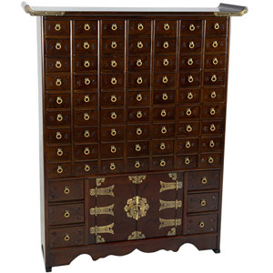 Korean Antique Style 63 Drawer Apothecary Chest