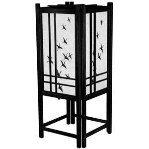18-Inch Cranes Shoji Lamp - Black