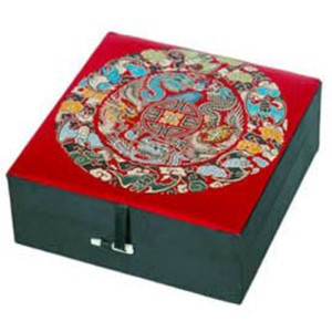 Red Silk Good Fortune Jewelry Box