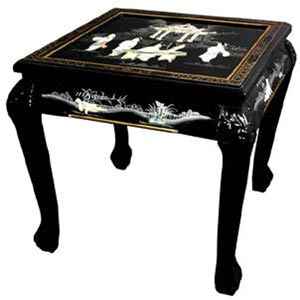 Claw Foot Black End Table