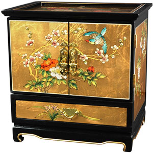 Empress Lacquer Jewel Box (Gold Leaf), Width - 16 Inches