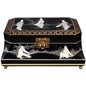 Adorlee Black Jewelry Box