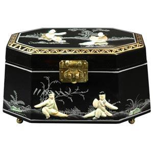 Antoinette Black Jewelry Box