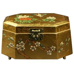 Antoinette Gold Jewelry Box