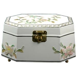 Antoinette White Jewelry Box