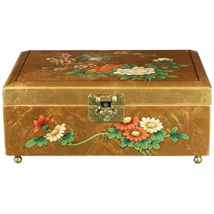 Clementina Gold Jewelry Box