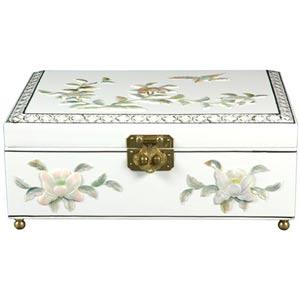 Clementina White Jewelry Box