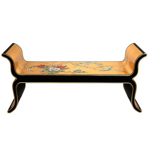 Gold Leaf Lacquer Bench - 2099, Width - 48 Inches