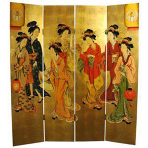 Golden Geisha Screen, Width - 64 Inches
