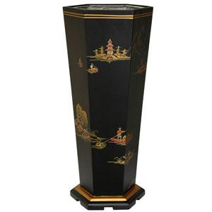 Black Landscape Umbrella Stand, Width - 9.25 Inches