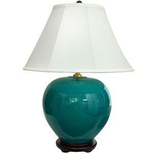 22-inch Azure Porcelain Lamp