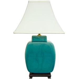 23-inch Azure Porcelain Jar Lamp