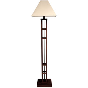 62-inch Mosko Floor Lamp - Dark Walnut