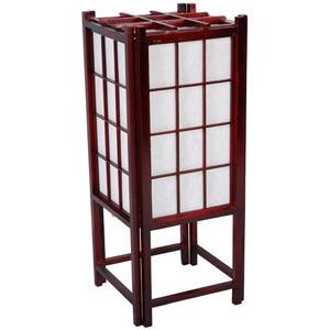 Window Pane 18-Inch Rosewood Shoji Accent Lamp