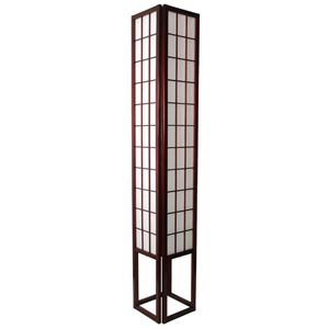 Window Pane 72-Inch Rosewood Shoji Floor Lamp