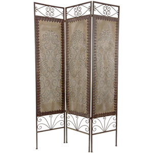 Six Ft. Tall Mediterranean Room Divider, Width - 15.5 Inches