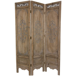Six Ft. Tall Antique Chest Design Room Divider, Width - 17 Inches