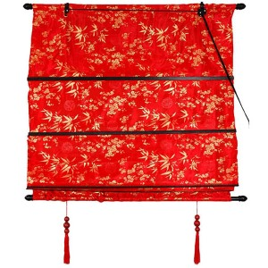 Red Shang Hai Tan Roman Blind
