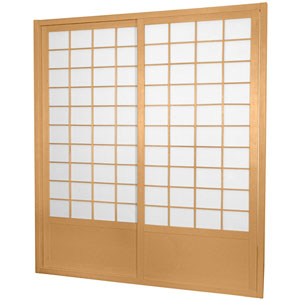 7 ft. Tall Zen Shoji Sliding Door Kit - Natural