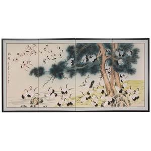 Hundred Cranes Silk Screen