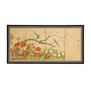 Birds and Flowers are One, Width - 18 Inches