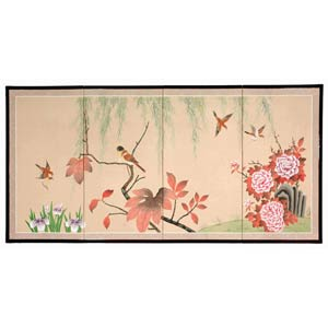 Birds on the Tree Silk Screen