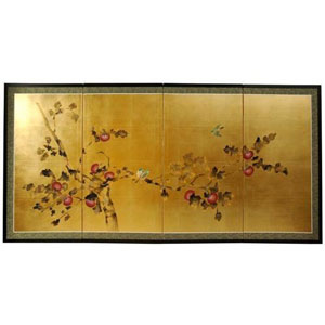 Gold Leaf Cherry Blossom - Width - 36 Inches