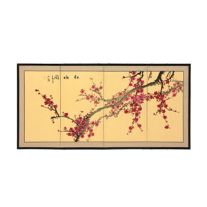 18-Inch Plum Blossom Silk Screen