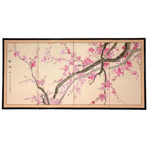 36-Inch Plum Blossom Silk Screen