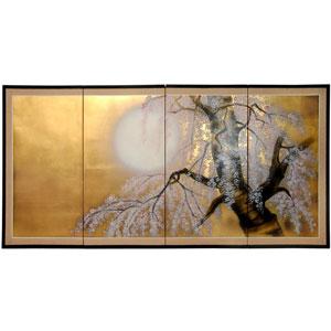 36 Inch Gold Leaf Sakura Blossom