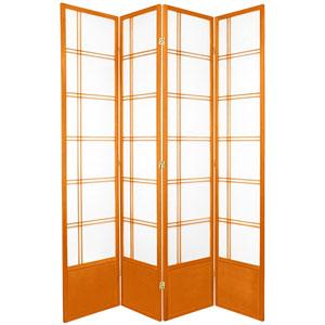 7-Foot Tall Double Cross Shoji Screen - Honey - 4 Panels