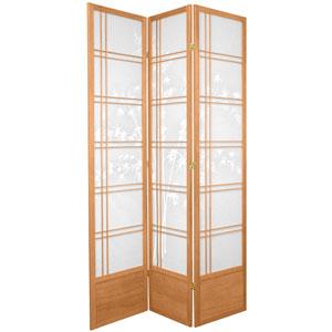 7-Foot Tall Bamboo Tree Shoji Screen - Natural - 3 Panels