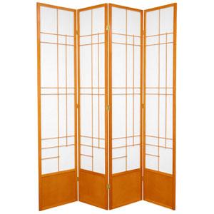 7-Foot Tall Eudes Shoji Screen - Honey - 4 Panels