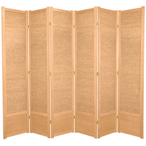 7 ft. Tall Jute Shoji Screen - 6 Panel - Natural