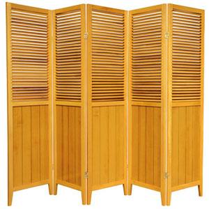6 ft. Tall Honey Five Panel Beadboard Divider