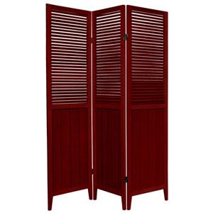 6-Foot Tall Beadboard Divider - Rosewood - 3 Panels