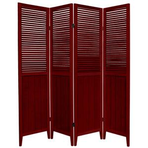 6-Foot Tall Beadboard Divider - Rosewood - 4 Panels