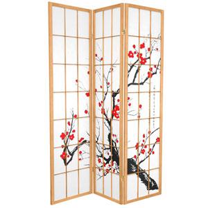 6-Foot Tall Flower Blossom Divider - Natural - 3 Panels