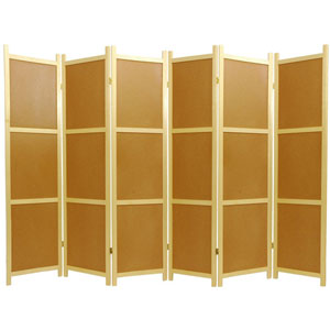 Cork Board Shoji Screen - Six Panel, Width - 107 Inches