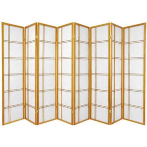 Double Cross Shoji Screen - Eight Panel Honey , Width - 136 Inches