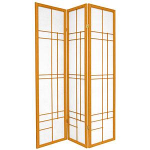 6-Foot Tall Eudes Shoji Screen - Honey - 3 Panels