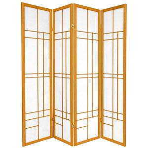 6-Foot Tall Eudes Shoji Screen - Honey - 4 Panels