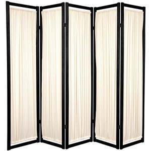 6-Foot Tall Helsinki Shoji Screen - 5 Panel - Black