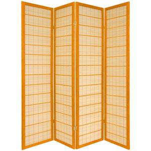 6-Foot Tall Kimura Shoji Screen - 4 Panel - Honey