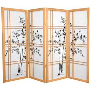 4-Foot Tall Bamboo Tree Shoji Screen - Natural - 4 Panels